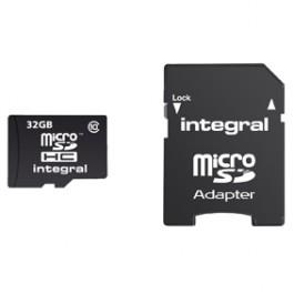 Micro SDHC kaart 32Gb klasse 10