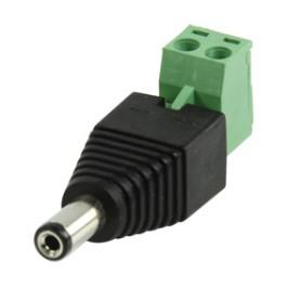 DC stekker 2.1mm naar kroonsteenaansluiting