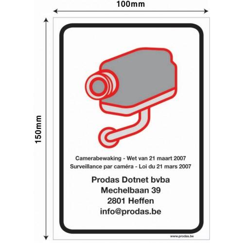 Sticker Teksten Bestellen.Prodas Camerabewaking Sticker Voor Camerabewaking Met Tekst Naar